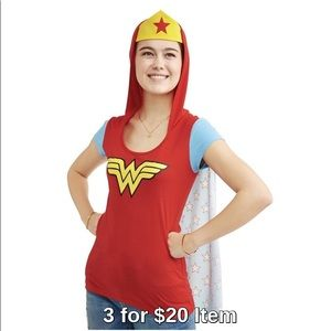 Wonder Woman Cosplay Hoodie with Removable Cape